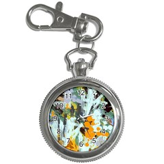 Abstract Country Garden Key Chain Watches