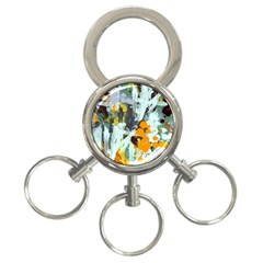 Abstract Country Garden 3-Ring Key Chains