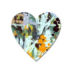 Abstract Country Garden Heart Magnet