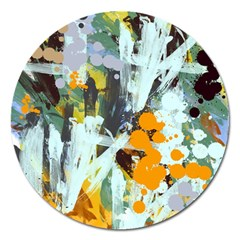 Abstract Country Garden Magnet 5  (round)