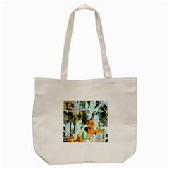 Abstract Country Garden Tote Bag (Cream)