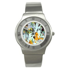 Abstract Country Garden Stainless Steel Watches