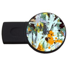 Abstract Country Garden Usb Flash Drive Round (4 Gb)