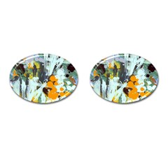 Abstract Country Garden Cufflinks (oval)