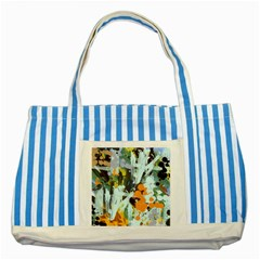 Abstract Country Garden Striped Blue Tote Bag