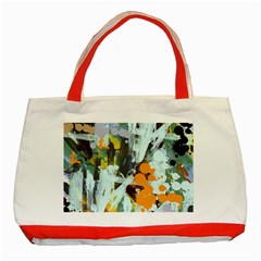 Abstract Country Garden Classic Tote Bag (red)