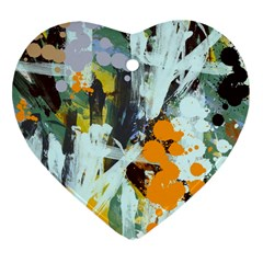 Abstract Country Garden Heart Ornament (2 Sides)