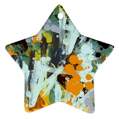 Abstract Country Garden Star Ornament (Two Sides)