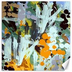 Abstract Country Garden Canvas 16  X 16