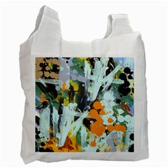 Abstract Country Garden Recycle Bag (two Side)