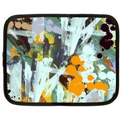 Abstract Country Garden Netbook Case (XL)