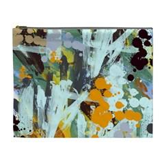 Abstract Country Garden Cosmetic Bag (xl)