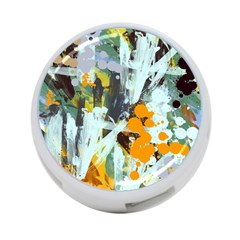 Abstract Country Garden 4-Port USB Hub (One Side)