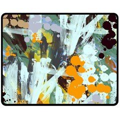 Abstract Country Garden Fleece Blanket (Medium)