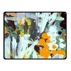 Abstract Country Garden Fleece Blanket (Small)