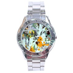 Abstract Country Garden Stainless Steel Men s Watch