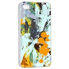 Abstract Country Garden Apple iPhone 4/4s Seamless Case (White)
