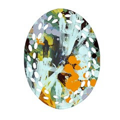 Abstract Country Garden Ornament (Oval Filigree)