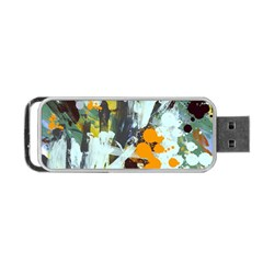 Abstract Country Garden Portable USB Flash (One Side)