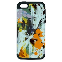 Abstract Country Garden Apple Iphone 5 Hardshell Case (pc+silicone)