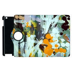Abstract Country Garden Apple Ipad 3/4 Flip 360 Case