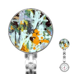 Abstract Country Garden Stainless Steel Nurses Watches