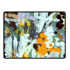 Abstract Country Garden Double Sided Fleece Blanket (Small)