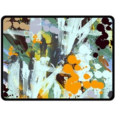 Abstract Country Garden Double Sided Fleece Blanket (large)