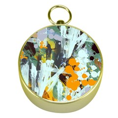 Abstract Country Garden Gold Compasses