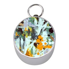 Abstract Country Garden Mini Silver Compasses