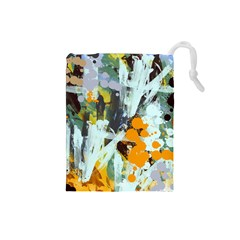 Abstract Country Garden Drawstring Pouches (small)