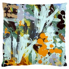 Abstract Country Garden Large Flano Cushion Cases (one Side)