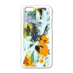 Abstract Country Garden Apple iPhone 6 White Enamel Case