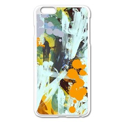 Abstract Country Garden Apple Iphone 6 Plus Enamel White Case