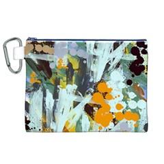 Abstract Country Garden Canvas Cosmetic Bag (xl)