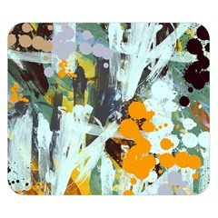 Abstract Country Garden Double Sided Flano Blanket (small)