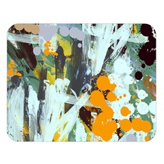 Abstract Country Garden Double Sided Flano Blanket (Large)