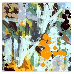 Abstract Country Garden Large Satin Scarf (square)
