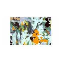 Abstract Country Garden Satin Wrap