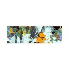 Abstract Country Garden Satin Scarf (Oblong)