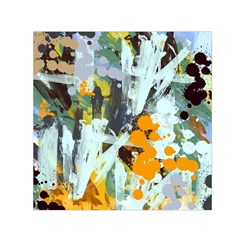 Abstract Country Garden Small Satin Scarf (Square)
