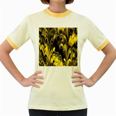Fractal Marbled 15 Women s Fitted Ringer T-Shirts