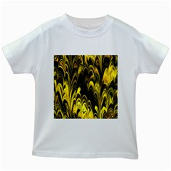 Fractal Marbled 15 Kids White T-Shirts