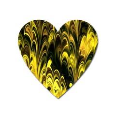 Fractal Marbled 15 Heart Magnet