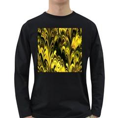 Fractal Marbled 15 Long Sleeve Dark T Shirts