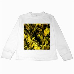 Fractal Marbled 15 Kids Long Sleeve T-Shirts
