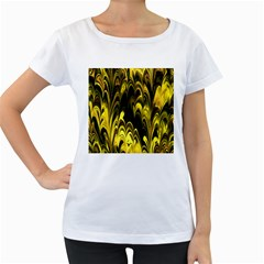 Fractal Marbled 15 Women s Loose Fit T Shirt (white)