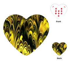 Fractal Marbled 15 Playing Cards (heart)