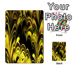 Fractal Marbled 15 Multi Purpose Cards (rectangle)