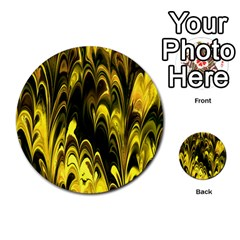 Fractal Marbled 15 Multi-purpose Cards (Round)